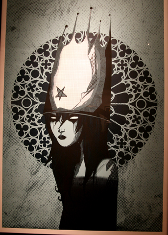 Redemption Queen 4 color silkscreen print