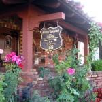 Near the entrance of the Magic Lamp Inn.