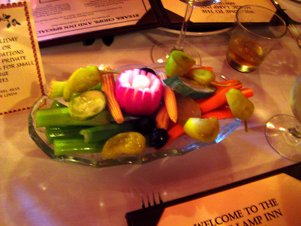 The old-fashioned relish tray.