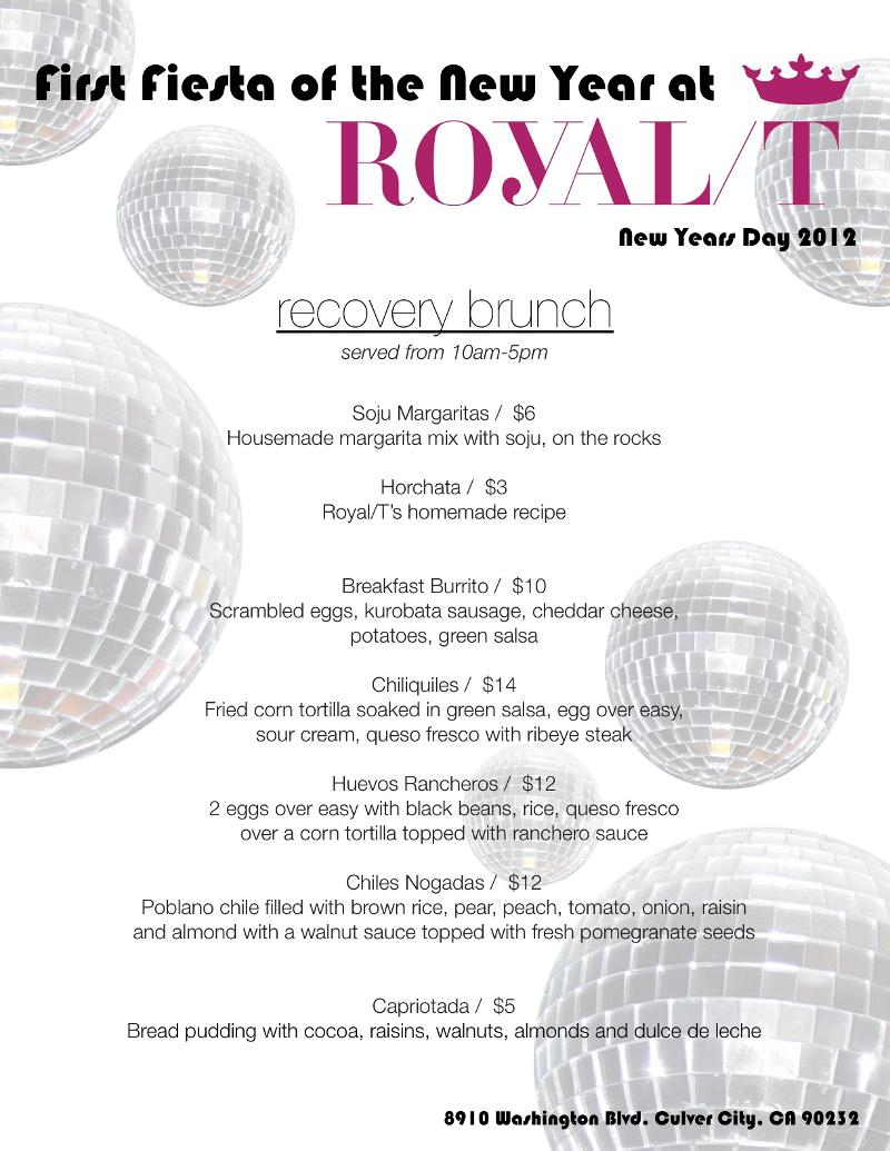 Royal T's Recovery Brunch