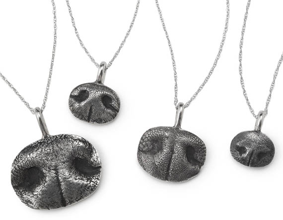 Buy me THIS: Custom Pet Nose Print Necklace