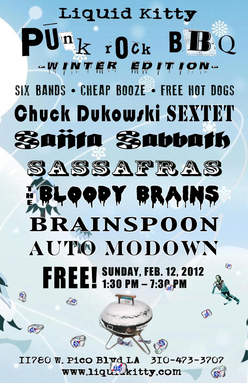Upcoming Event: Liquid Kitty Winter Punk Rock BBQ