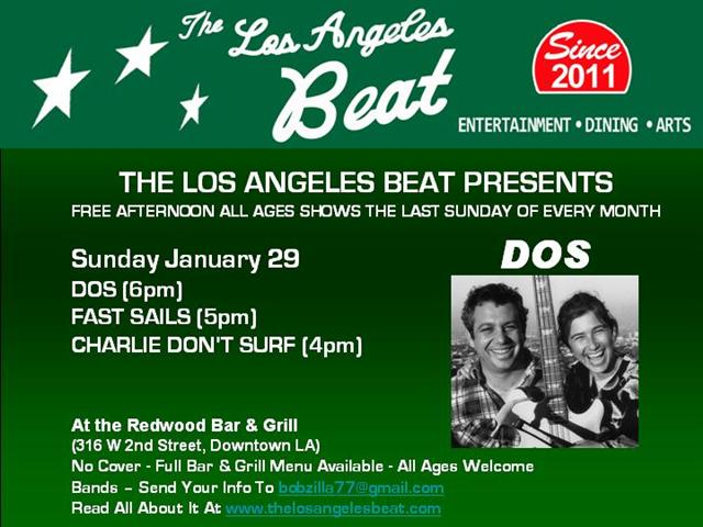 The Beat Presents! Sunday at The Redwood. Don't Miss It!