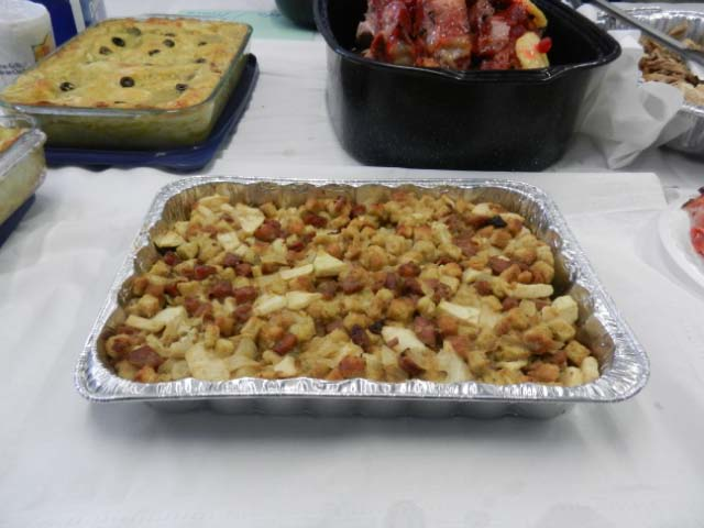Chicken Apple Sausage Dressing or Stuffing, if you Prefer