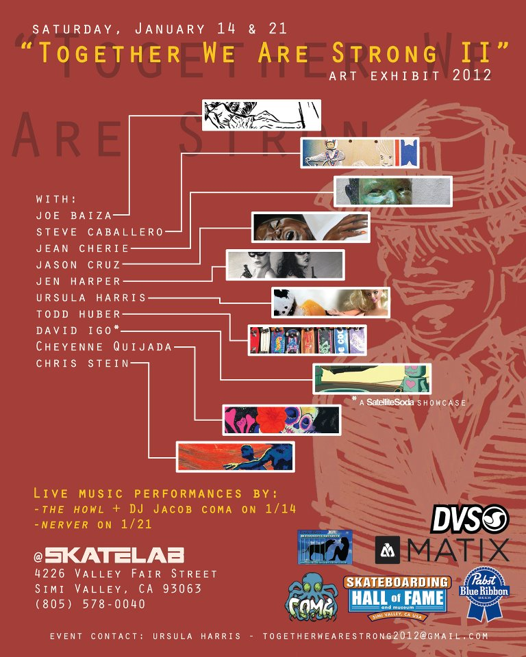 Upcoming: Skatelab Art Exhibit with The Howl, DJ Jacob Coma, Nerver