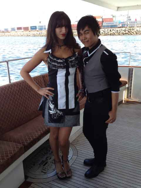 Designer Dara Khim and Model Yasmine Solamon