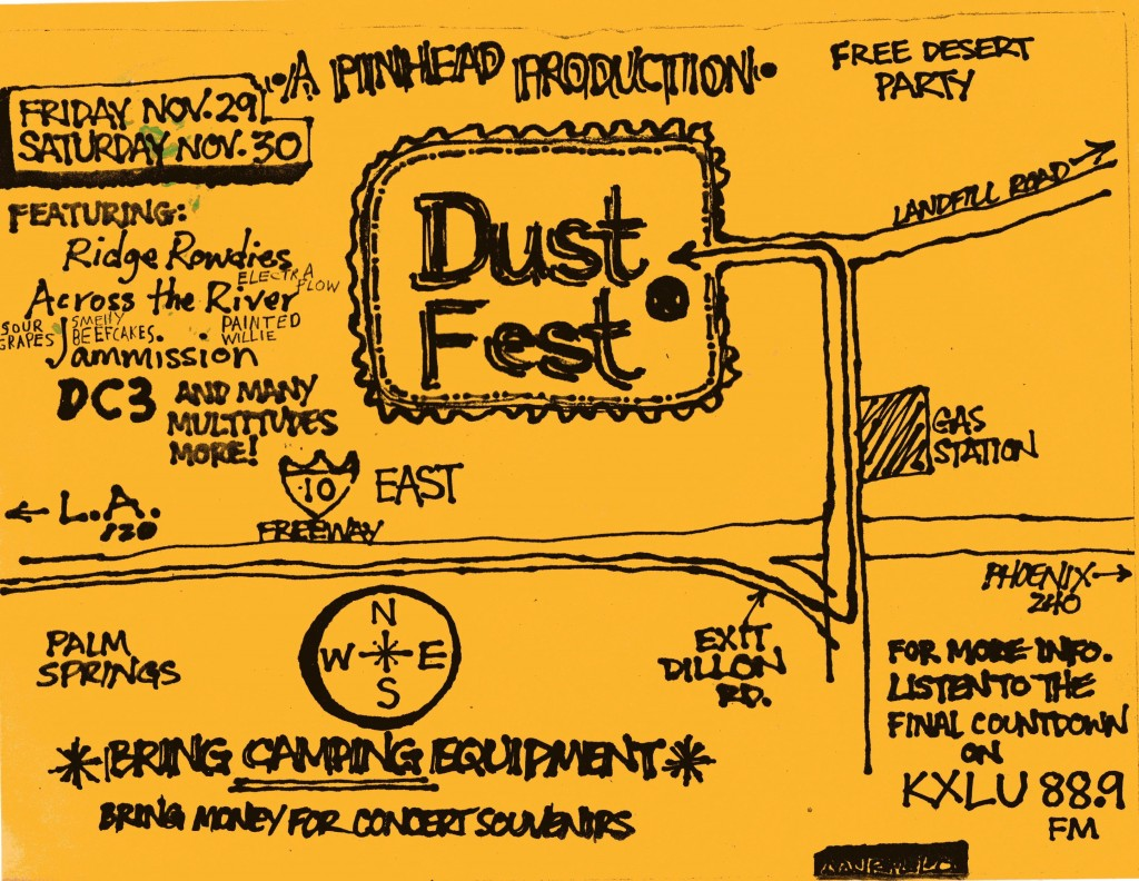 Dust Festival Flyer - art by George Murillo