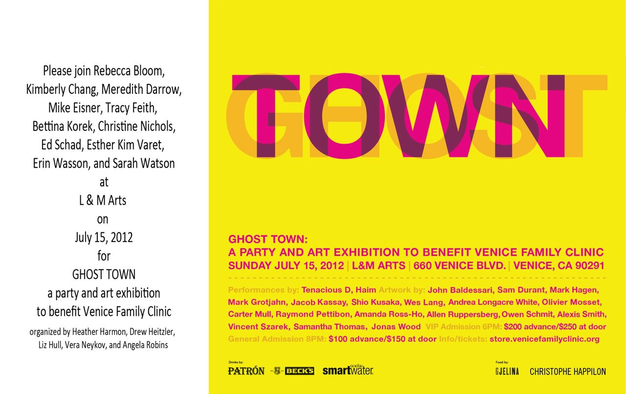 GHOST TOWN July 15 @ L&M Arts to benefit the Venice Family Clinic