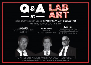 Live Streaming on 6/21 at 6:00pm: LAB ART Presents 'STARTING AN ART COLLECTION' A CONVERSATION with ART COLLECTORS