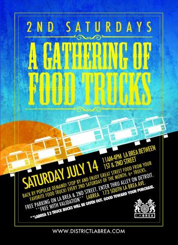 2nd Saturday, A Food Truck Gathering @ La Brea is back