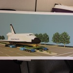 Artist Rendition of Transport of Space Shuttle Endeavour