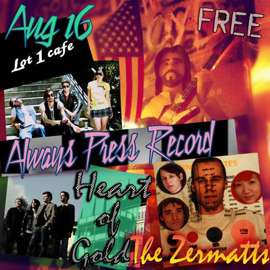 Free Show at Lot 1 Cafe with The Zermatts
