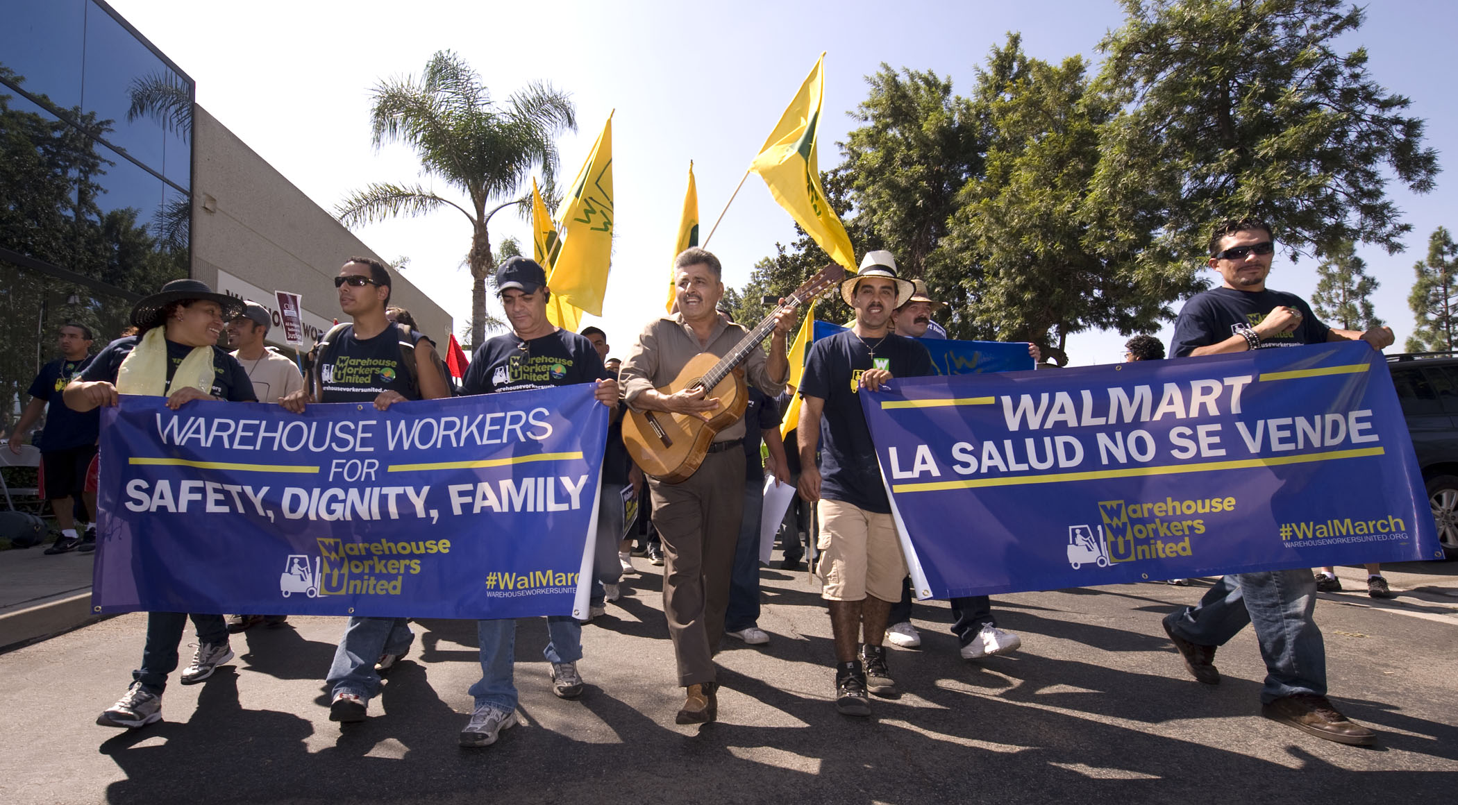 United in Solidarity, the UFWs Join the Walmart Warehouse Workers on Their March for Safer Work Conditions