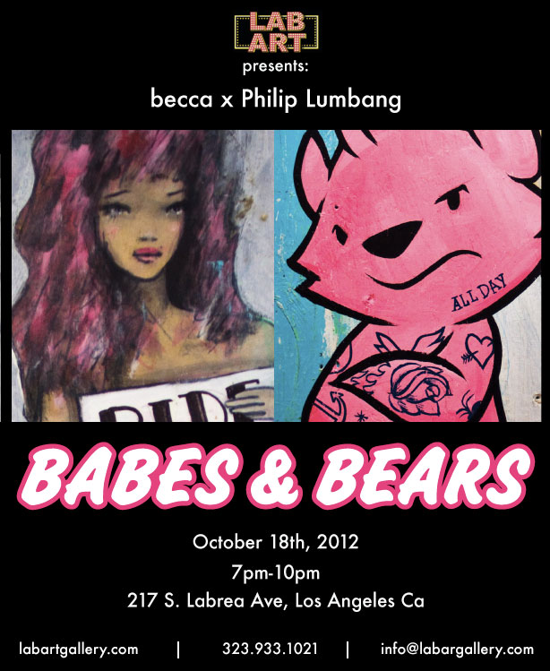 Babes and Bears @labartgallery October 18th