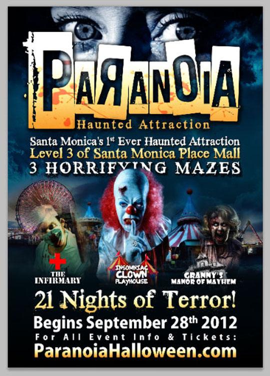 Paranoia Haunted Attraction in Santa Monica