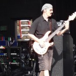 Peter Gabriel at Santa Barbara Bowl - Tony Levin at soundcheck.