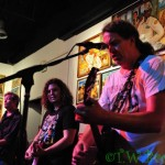 Cris, Elmo and Curt on stage at Track 16, Bergamot Station October 6 2012