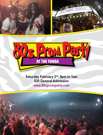 Drink Eat Play presents 80s Prom Party at Henry Fonda