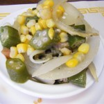 Corn and Okra by Elise Thompson
