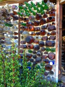 Close-up of Bottle Wall (Photo by Nikki Kreuzer)