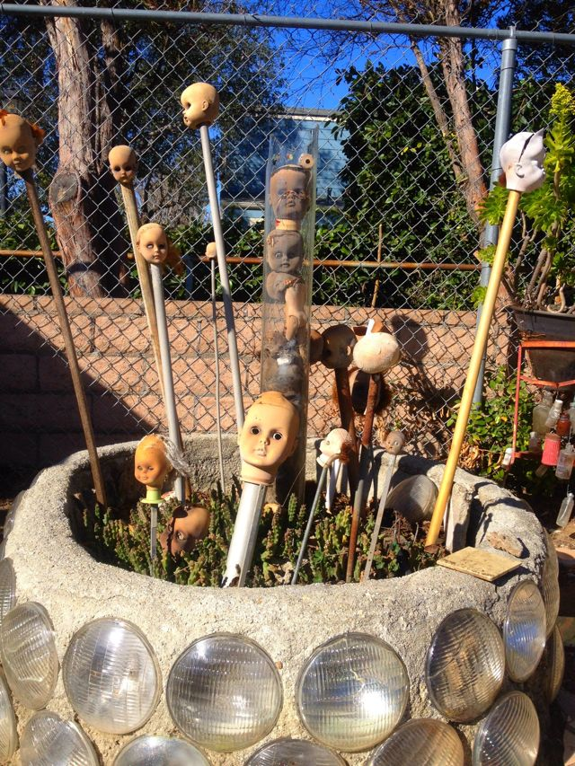 Grandma Prisbrey's Doll Heads (Photo by Nikki Kreuzer)