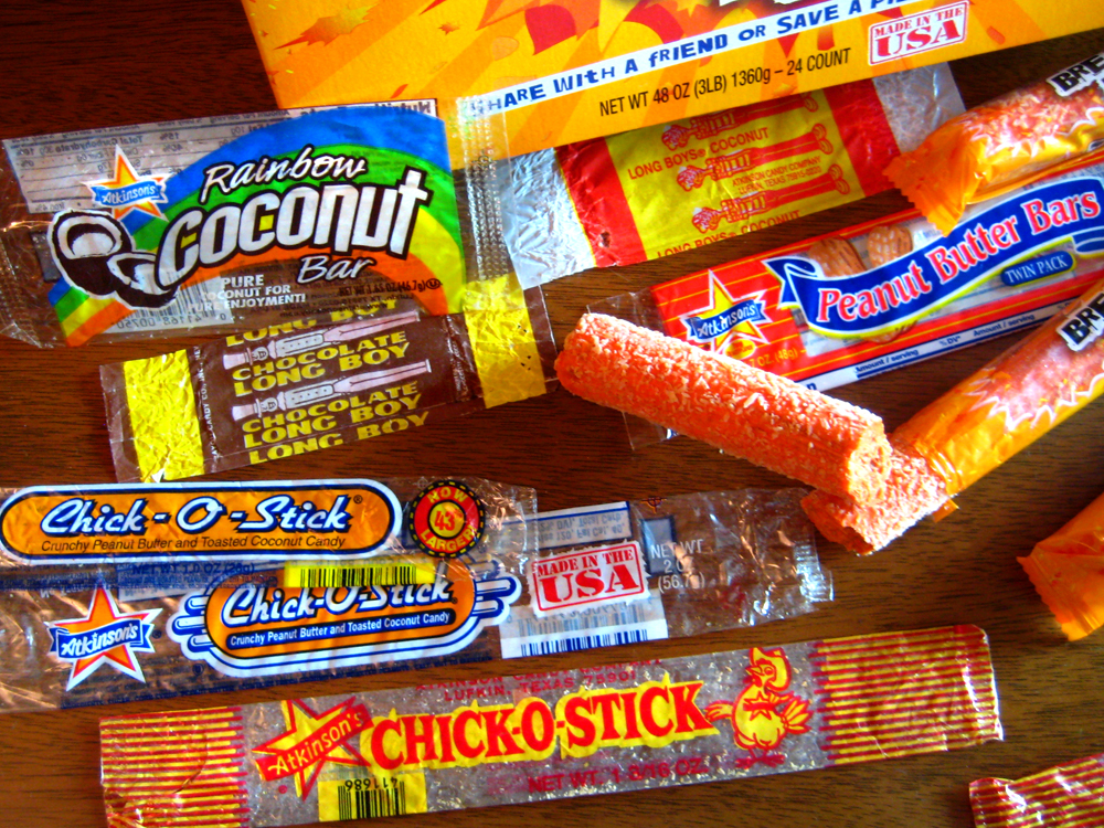 A closer look at Atikinson's candy wrappers over the years in the Candy Wrapper Museum.