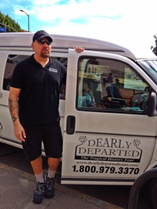 Scott Michaels and the Dearly Departed Tour Van (Photo by Nikki Kreuzer)