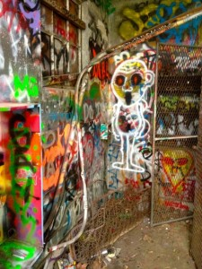 Graffiti in the Ruins of Murphy Ranch (photo by Nikki Kreuzer)