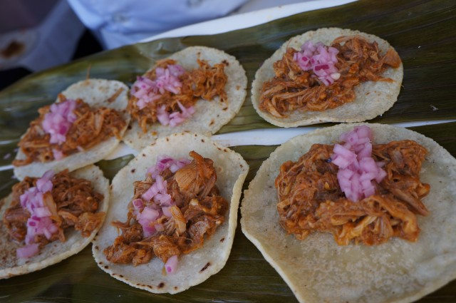 Chichen Itza's cochinita pibil tacos. So flavorful.
