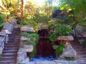 A waterfall in the Rock Garden (Photo by Nikki Kreuzer)
