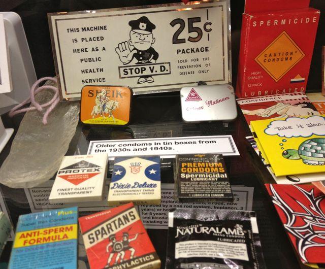 Vintage Condoms at the Medical Museum in Riverside (Photo by Nikki Kreuzer)