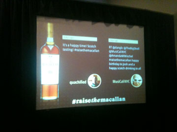 Raise the Macallan Scotch Tasting