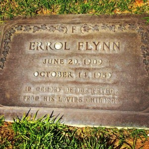 Errol Flynn's grave at Forset Lawn in Glendale (Photo by Nikki Kreuzer)