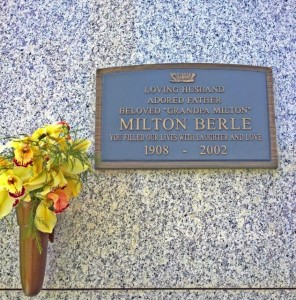 The late, great Milton Berle can be found at Hillside Cemetery in Culver City. (Photo by Nikki Kreuzer)