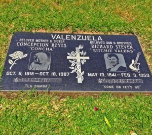 The grave of Ritchie Valens