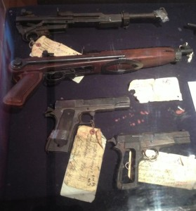 Actual guns belonging to the SLA on display at The Police Museum, (Photo by Nikki Kreuzer)