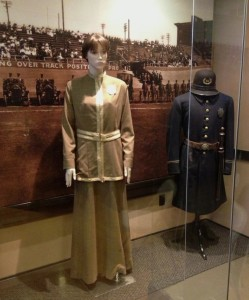 Vintage LAPD uniforms at the Police Museum (Photo by Nikki Kreuzer)