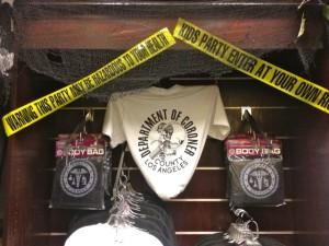 T-shirts, Body Bags, Caution Tape...Oh My. (Photo by Nikki Kreuzer)