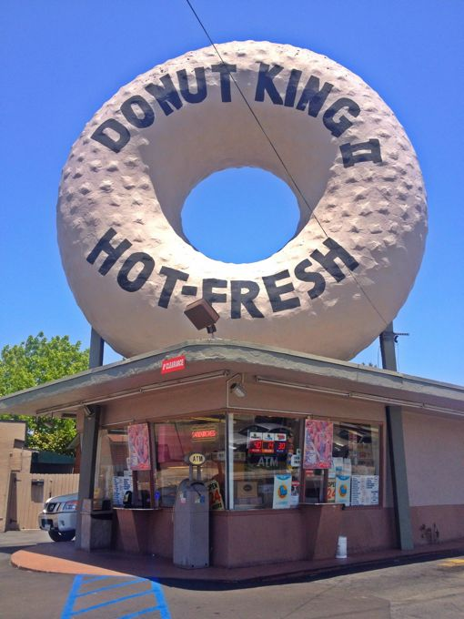 Offbeat L A Attack Of The Giant Donuts It S Not Just