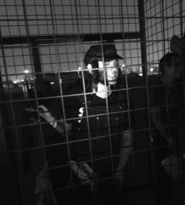 Mike imprisoned. (Photo by Nikki Kreuzer)