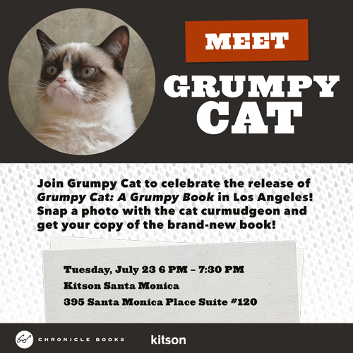 Meet Grumpy Cat in Santa Monica Tonight