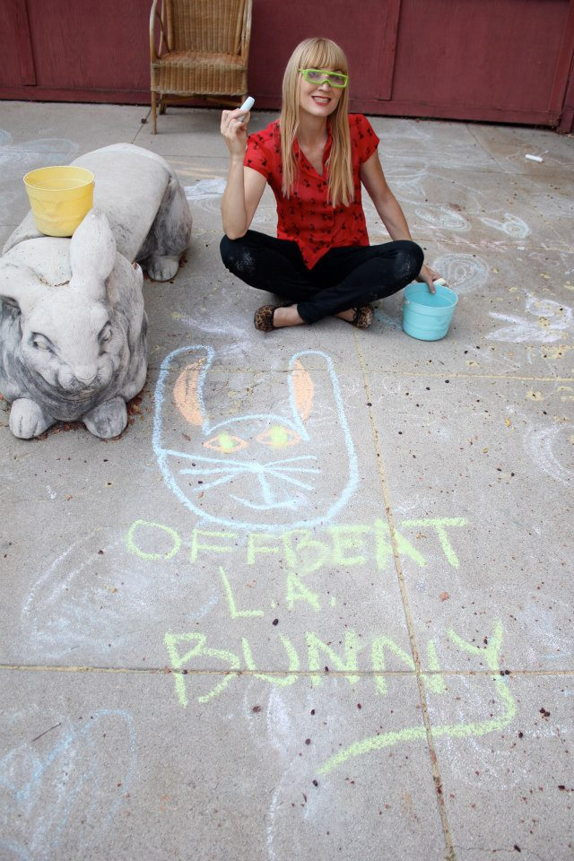 Offbeat L.A. Bunny... (photo by Chris Carlone)
