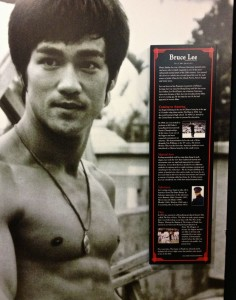 A Bruce Lee display at The Martial Arts History Museum (Photo by Nikki Kreuzer)