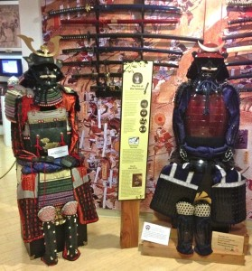 Samurai costumes and swords in the Japanese section (photo by Nikki Kreuzer)