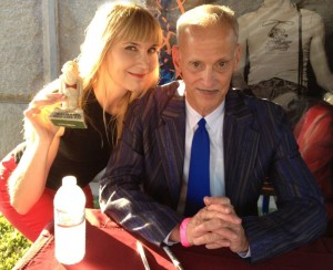 The author meets John Waters (photo courtesy of Nikki Kreuzer)