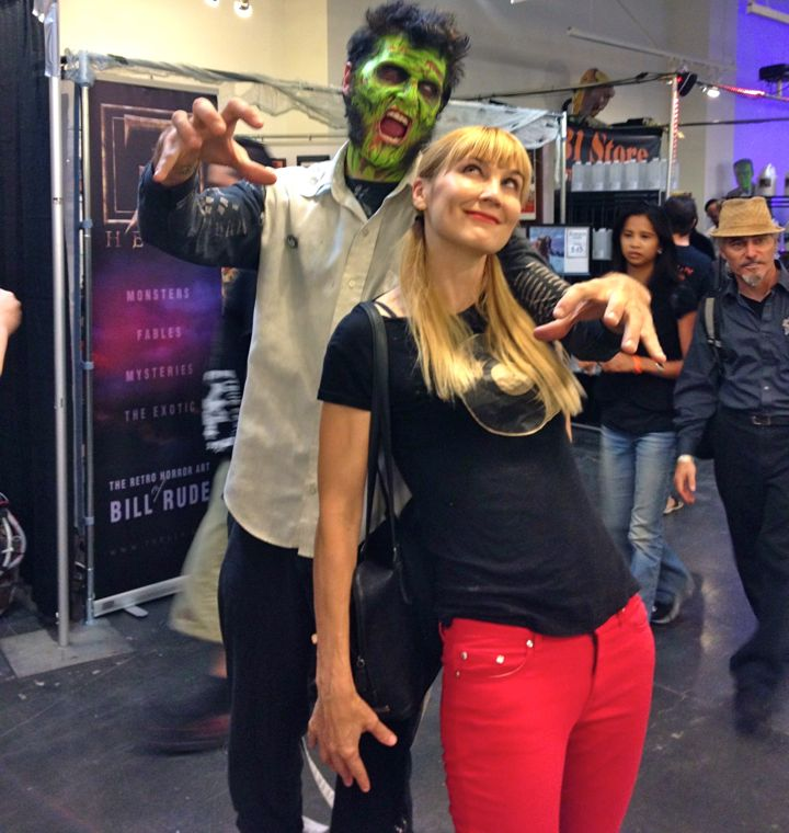 The author being terrorized by a Zombie Elvis (photo courtesy of Nikki Kreuzer)