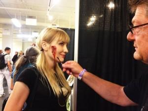 The author gets a makeover (photo courtesy of Nikki Kreuzer)