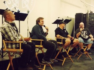 Ghosts of Los Angeles panel: from left Rich Berni, Richard Carradine, Scott Michaels and Steve Barton (photo by Nikki Kreuzer)