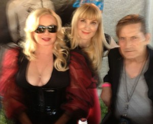 The author posing with Traci Lords and Joe Dallesando (photo courtesy of Nikki Kreuzer)
