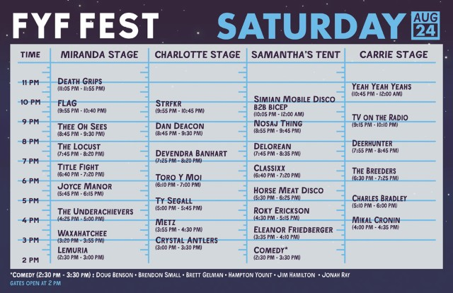 Your Saturday Schedule for FYF